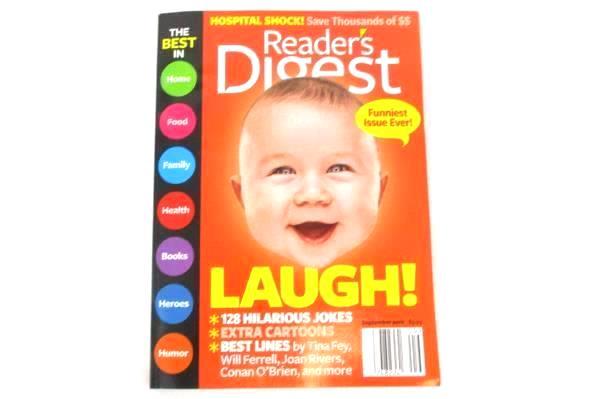 Reader's Digest Magazine Book September 2012 Will Ferrell Joan Rivers Tina Fey