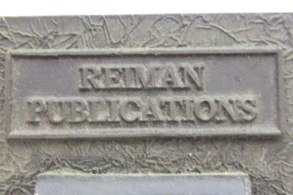 Vintage Belt Buckle Reiman Publications Wheat Belt Patina