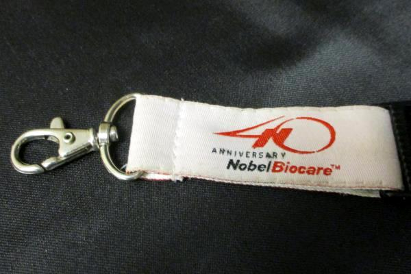 Nobel Biocare 40 Anniversary Lanyard Key Chain World Conference 2005 Prosthetic