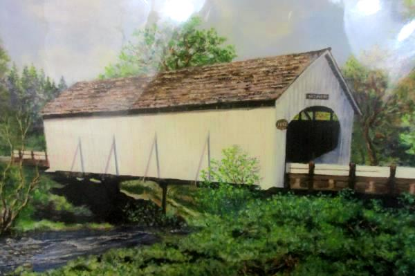 Historical Covered Bridge Evans Creek Wimer Oregon 1892-2003 Print Mary Geller