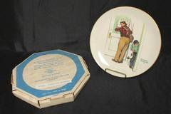 Vintage Norman Rockwell 1979 Four Seasons Plate Closed For Business SPRING