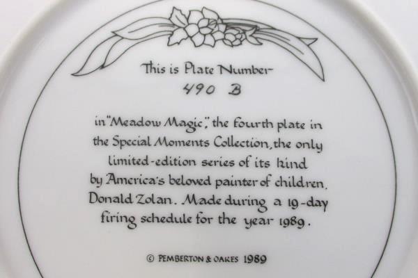 Meadow Magic Collectible Plate Donald Zolan 1989 Pemberton & Oakes