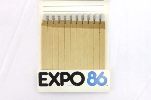 EXPO 86 WORLD EXPOSITION Vancouver Canada OVERSIZED Matchbook