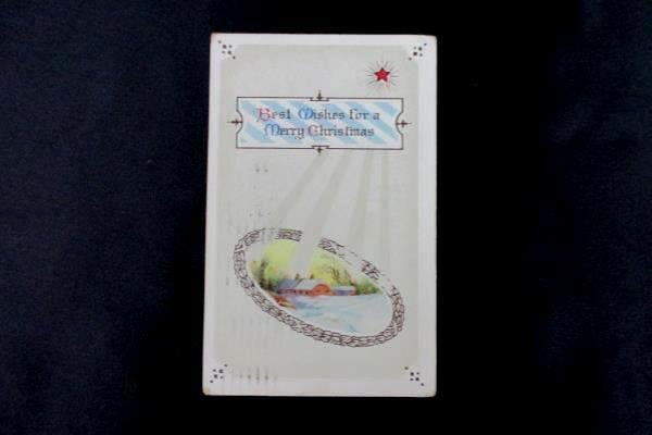 Lot of 3 Vintage Christmas Cards Post Cards Posted 1910 1911 1918