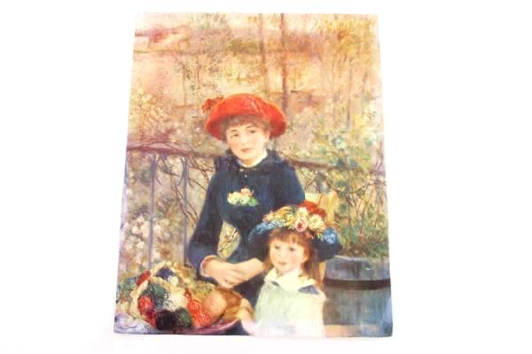 Lot of 2 Pierre-Auguste Renoir Prints Two Sisters On The Terrace Flowers Small M