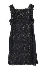 Blue Sleeveless Lace Overlay Cocktail Evening Date Dress Formal  ~ADRIANNA PAPEL
