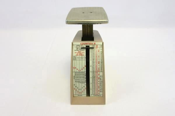 1965 Countess II Postage Scale Model P-2 Calculates Parcel Post/Air Parcel Post