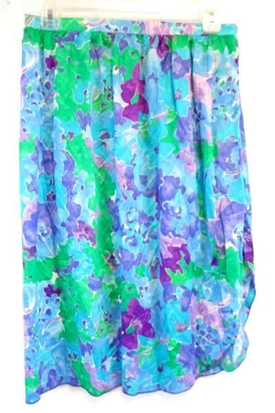 Vintage Floral Swimsuit Wrap Skirt Cover Med by Perfection Fit Roxanne
