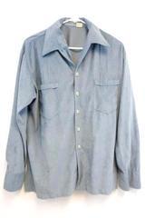 Vintage DAS Retro Button Up Soft Shirt Top Powder Blue Size Large
