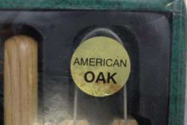 6 Piece BBQ Pro Real Oak Bar B Que Tool Set New Old Stock