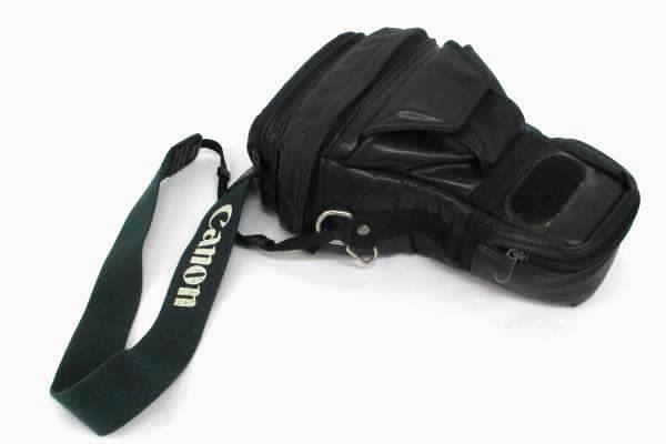 Canon EOS Rebel 35-80mm Camera 200e Speedlite Flash Slave Off Shoe Cord Case Bag