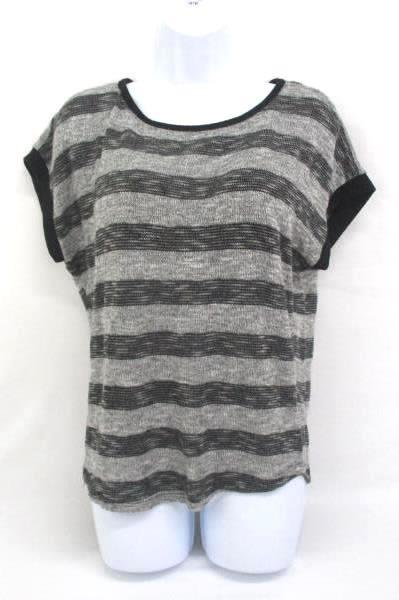 XXI Ann Taylor Lot of 2 Tops Sweater Striped Black White Grey Gray Size Small S