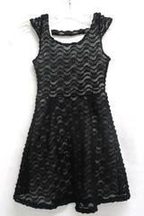 Lilt Youth Girls Size 8 Dress Cap Sleeve Sheer Knit Over Solid Valentine Easter