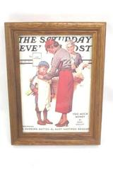 February 27th 1937 The Saturday Evening Post Illustrated Magazine Cover Framed