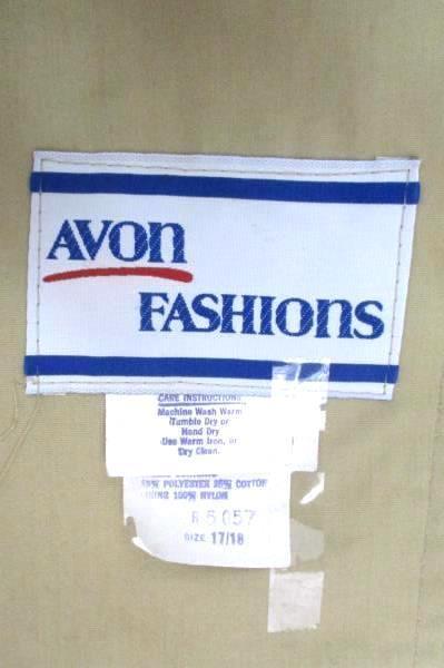 Avon Fashions Vintage Beige Trench Coal Womens Size 17/18 ILGWU Tie Waist Button