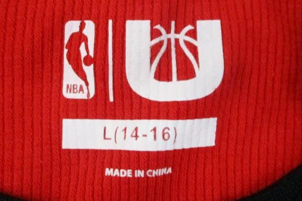 NBA Portland Trailblazer 1970 Red Black Waffle Knit Shirt Youth Size Large 14-16
