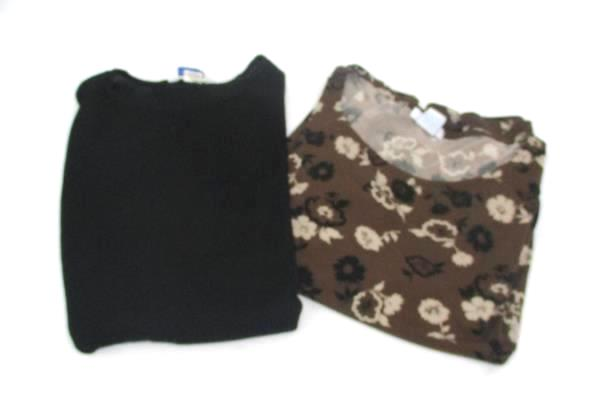 Ship 'N Shore Sweater Traditions Floral Blouse Lot 2 Women's Tops Size Large L