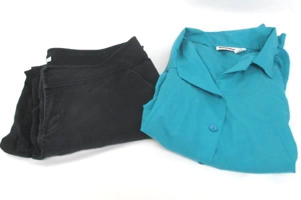 Judy Bond Teal Blouse Sz 16 Fashion Bug Jeans Sz 16W Short Women's Outfit Idea
