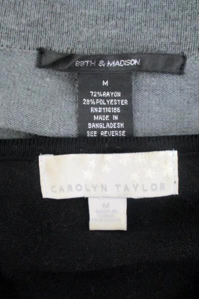 89th & Madison Open Cardigan Carolyn Taylor Sweater Blouse Lot 2 Women's Size M