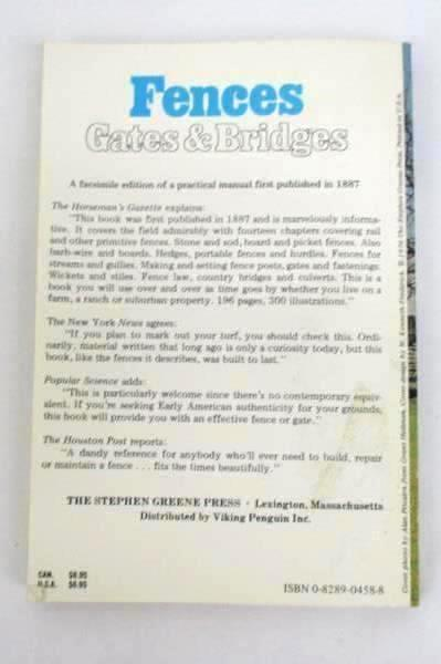 Fences Gates & Bridges a Practical Manual by George A Martin ~ Used