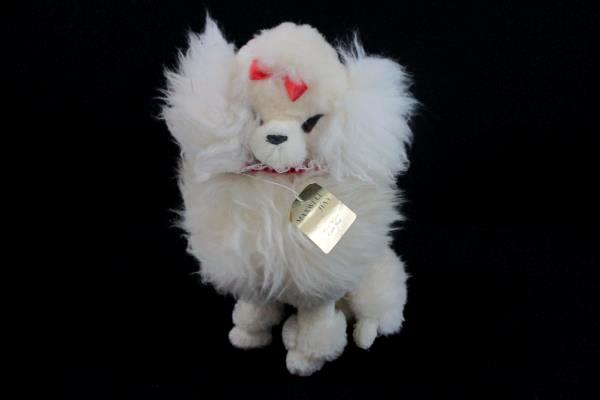 Vtg Maxwell Hay Virgin Wool Plush Stuffed Dog Animal Sculpture Toy New Zealand