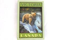 Vintage Art 2-D MAGNET Polar Bear Eating Fish from River Victoria Canada Tourism