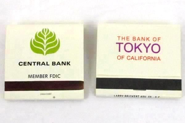 Lot of 9 Vintage Unused Matchbooks California Restaurants Banks San Francisco