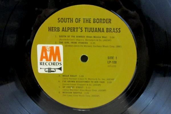 "12"" LP 33RPM Herb Alpert' Tijuana Brass South Of The Border Orig Shrink Hype"