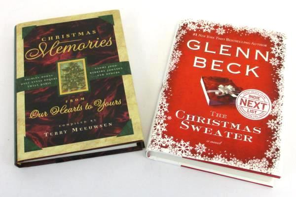 Christmas Sweater By Glenn Beck.Lot Of 2 Spiritual Books Christmas Memories And The Christmas Sweater By Beck