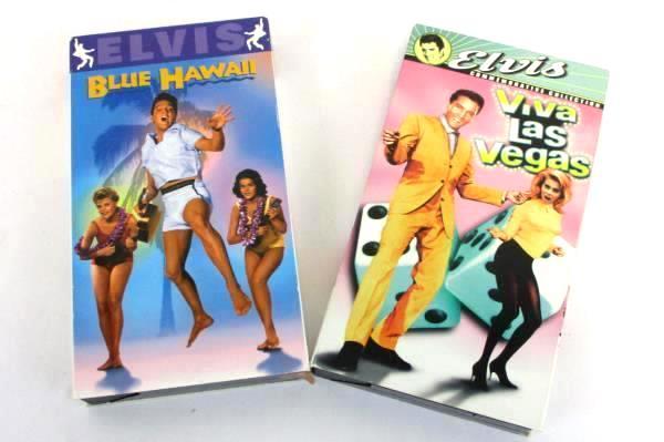 Lot of 2 ELVIS VHS Movies Viva Las Vegas and Blue Hawaii
