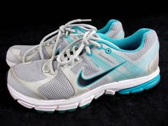 NIKE Running Shoes Zoom Structure + Gray Blue Womens Sz 7.5