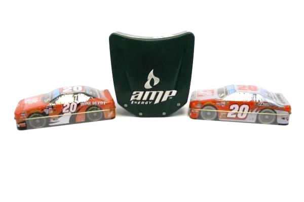 Lot of 3 NASCAR Collectible #20 Stewart Race Cart Tin Monte Carlo Impala