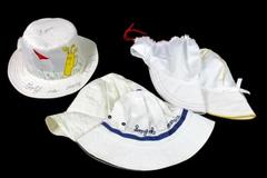 Lot of 5 Cream Sunny Floppy Women Golf Garden Vintage Hats
