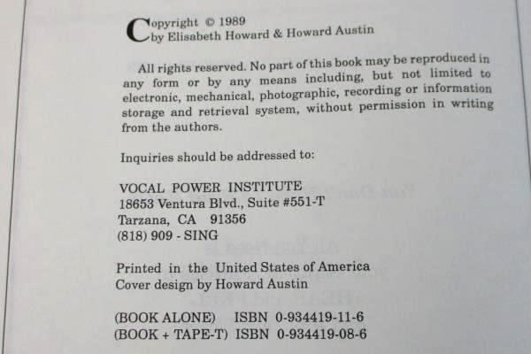 1989 Vintage Self Help Born To Sing Vocal Technique How To Book
