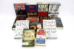 Large Lot of Mystery Political Novels Hardcover Paperback Books Summer Reading
