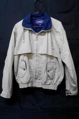 Vintage Men's Large Windbreaker Zip Jacket LA Mode Active Sportswear Beige