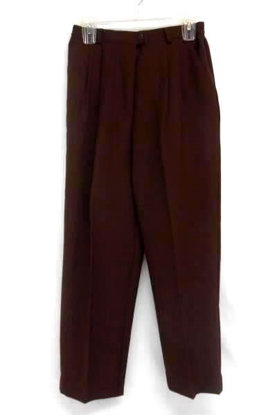 Counterparts Brown Trouser Pants Slacks Pleated Front Wear to Work Women's 8