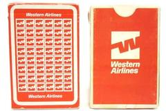 Lot of 2 Western Airlines Playing CARDS w/ 1 Sealed Pack