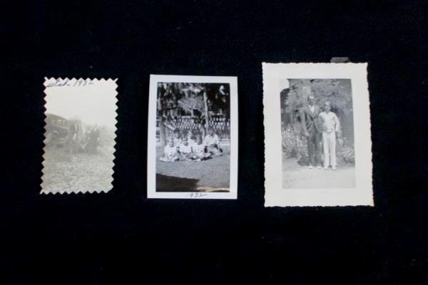 3 Black White Photos Photographs Family Man Wen Children Daily Living 1930s
