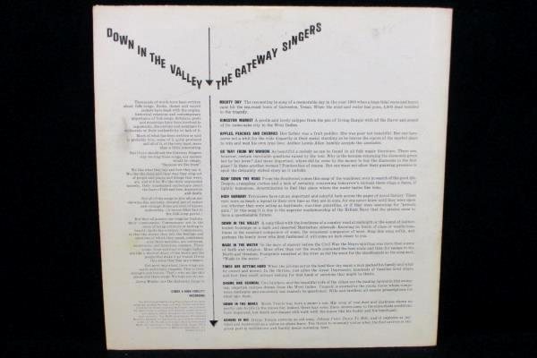 """The Gateway Singers LP 33 RPM """"Down In The Valley"""" MGM Records 1961 12"""" Record"""