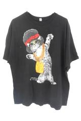 All Gold Everything Triniadad Cat Wearing Chains Black T-Shirt Unisex 2XL