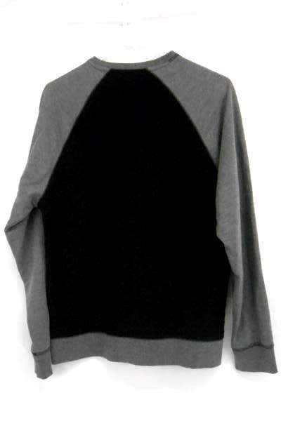 Ocean Current Men's Quilted Black Gray Grey Long Sleeve Sweater Sz Medium