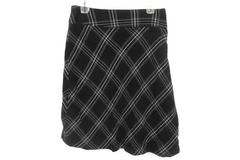 LINDEX Brown Plaid Lined Knee Length A Line Skirt Women's 40