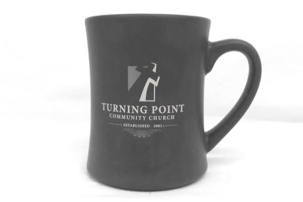 Heavy Turning Point Church Hour Glass Gray Grey Coffee Mug Souvenir
