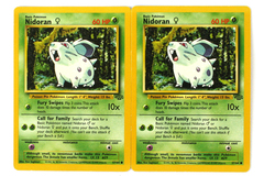 Lot of 2 Pokemon Nidoran Cards 57/64