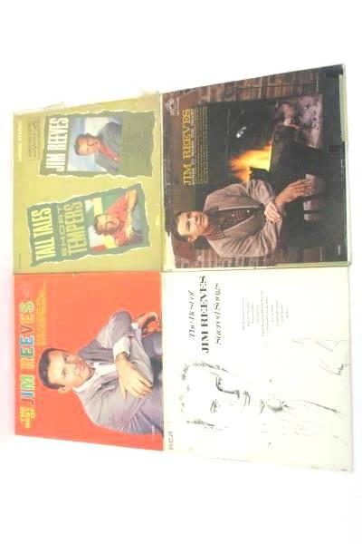 Jim Reeves Vinyl LP Records Lot: The Best Tall Tales Songs To Warm Sacred