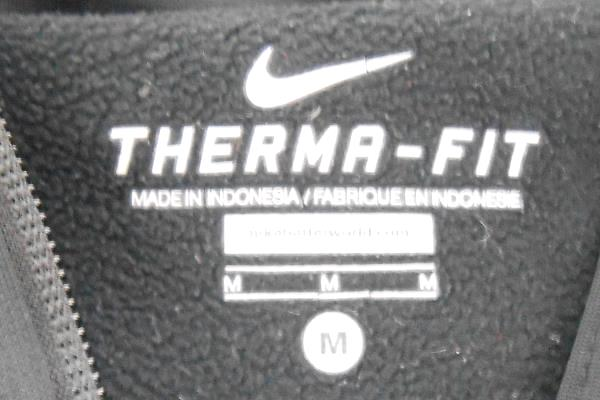 Women's Nike Black Zip Up Hooded Sweat Shirt Sz M ~Manogue Basketball Therma-Fit