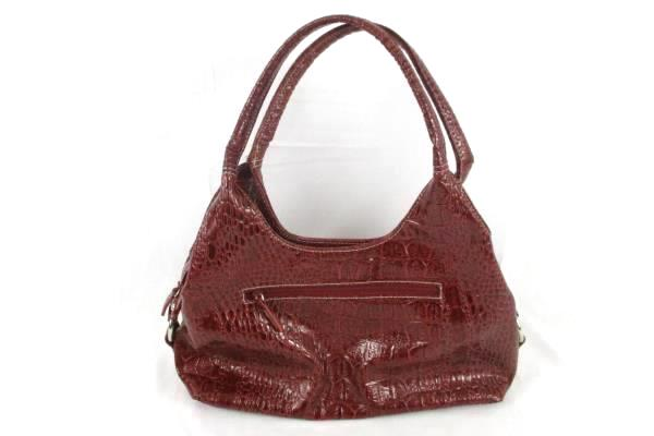 GNW Red Zippered Handbag With Built in Card Holder