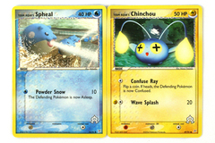 Lot of 2 Pokemon Team Aqua's Chinchou 49/95 & Spheal 56/95