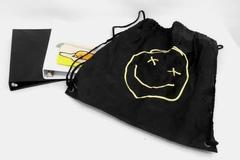 Back To School Lot- Smiley Face Backpack 2 Binders Pencil Pouch School Supplies